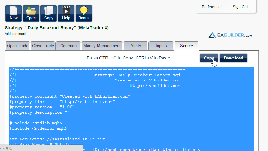 Best free binary options ea builder